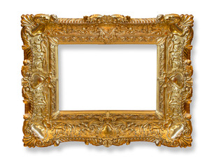 Gold  old frame.