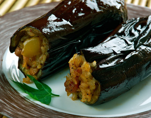 Eggplants stuffed