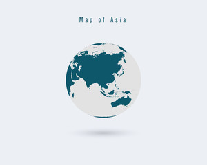 Globe of World Vector  illustration.