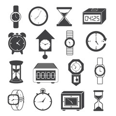 Clock and Watch Icons Set