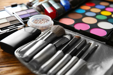 Professional make-up accessories, closeup