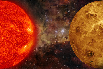 Solar System - Venus. Elements of this image furnished by NASA.