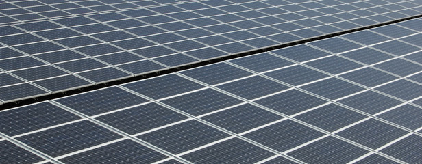Solar Panels - Close-up - Panorama