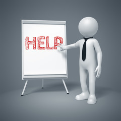 business man presenting help