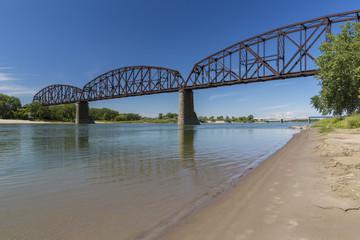 Railroad Bridge Over Missouri River