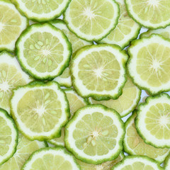 Bergamot or Kafir lime slice background