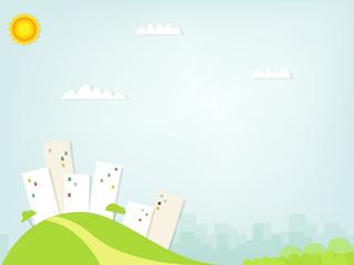Paper city landscape