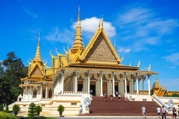 The Royal Palace of Phnom Penh in Cambodia