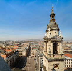 Budapest cityscape from Basilica of Saint Stephen
