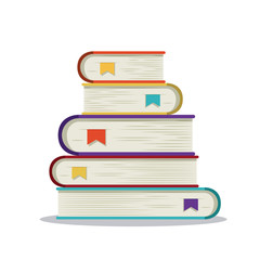 books group read library literature learning knowledge icon. Colorful design. Vector illustration