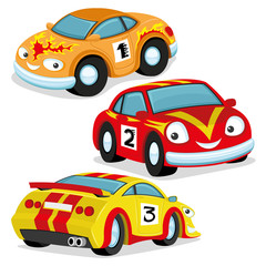 Cute racing cars.