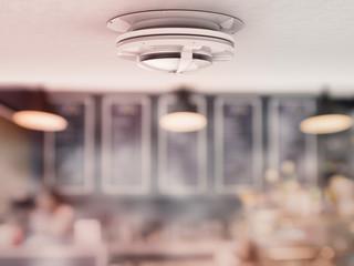 smoke detector on ceiling
