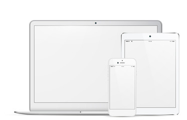 new white laptop gadget collection 2016