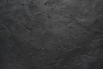Black stone, concrete background pattern.