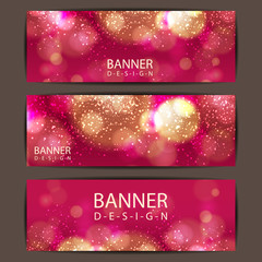 Happy valentines day banner and card design