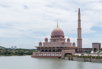 Putra Mosque (Masjid Putra) at Putrajaya Malaysia