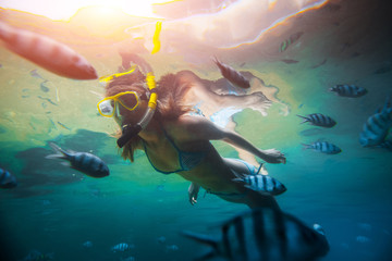 Wall Mural - Lady diver