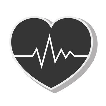 cardio pulse heart design vector illustration eps 10