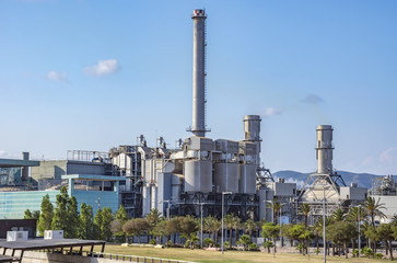 Industry plant in Barcelona