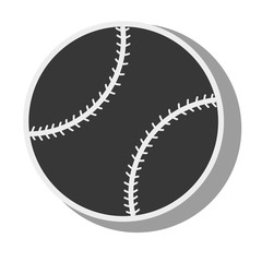 silhouette ball baseball isolated design vector illustration eps 10