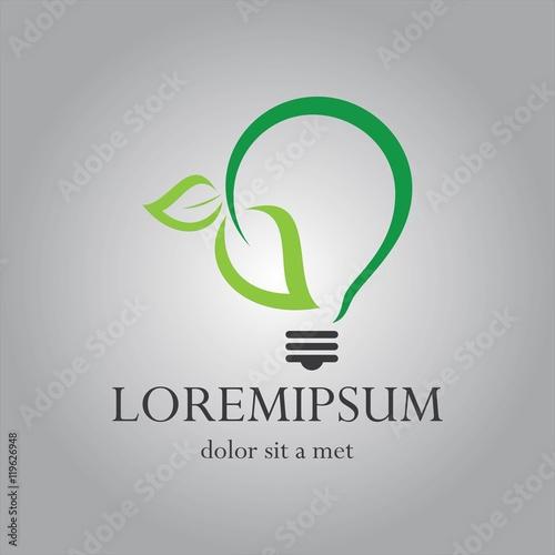 quoteco light bulb logoquot imagens e vetores de stock royalty