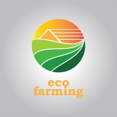 organic farming illustration logo