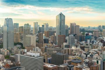 Cityscape of Tokyo Skyline, japan city cityscape at twilight - T