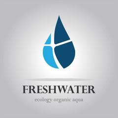 vector abstarct sign water drop logo