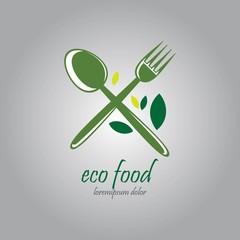 vegetarian cafe logo design