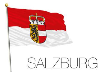 Salzburg regional flag, land of Austria