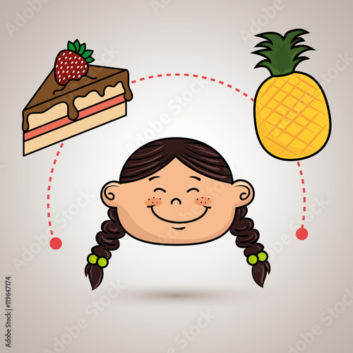 fruit dessert fruit girl