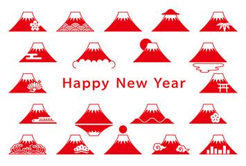 富士山 年賀状
