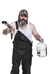 Angry Drinking Redneck