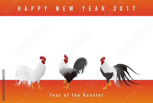 写実的な鶏イラストの 酉年 年賀状イラストfotoliacom の ストック画像
