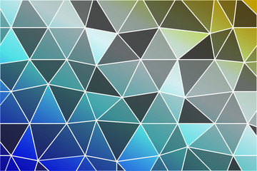 beautiful polygonal mosaic on a color gradient. vector illustration.
