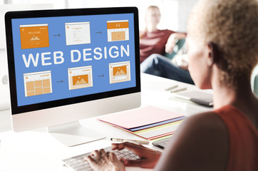 Web Design Work Website Development Concept
