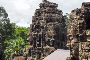The Face Tower Representing Avalokiteshvara at Bayon Temple in Angkor Thom, Cambodia