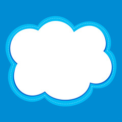 Cloud frame vector