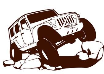 Jeep Line Art Offroad
