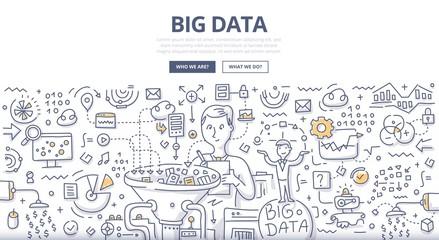 Big Data Doodle Concept