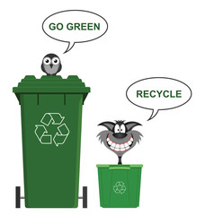 Go green recycle environmental message