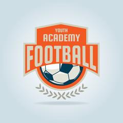 Football badge logo template design,soccer team,vector illustrat