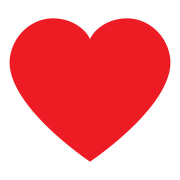 Simple heart vector isolated