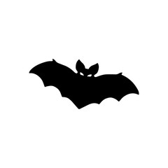 Vector silhouette of bat