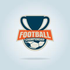 Football badge logo template design,soccer tournament,vector ill