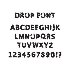 Drop font decorative