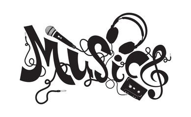 Music typography elements