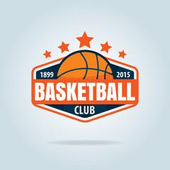 Basketball logo template,vector illustration