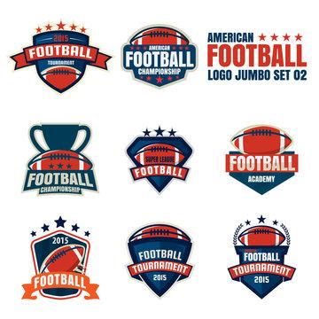 American football logo template collection,vector illustration