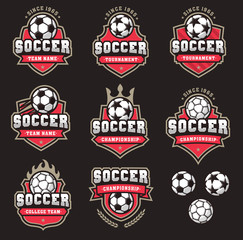 Vector Soccer Logos and insignias 2